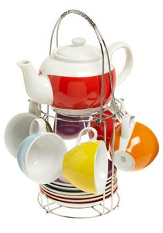 Rainbow tea set.  I'd have to have to start having tea parties if I get this!