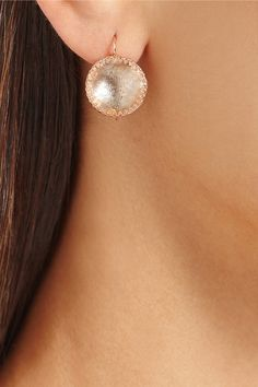 Larkspur & Hawk | Olivia Button rose gold-dipped topaz earrings | NET-A-PORTER.COM