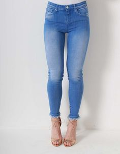 Replay Bright Blue Joi Ankle Zip jeans | Accent Clothing