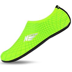 Barefoot Water Flexible Skin Shoes Aqua Socks With Outsole for Beach Swim Surf Summer Leisure Sports 4M US W657 M556  Green -- You can get more details by clicking on the image.