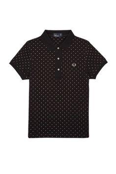 Fred Perry Women Polka Dot Polo Shirt