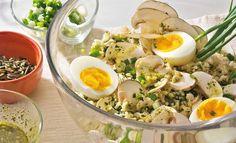 Reissalat mit Eiern und Champignons // einfachlecker.de