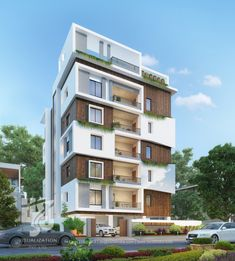 Visualization is expert in architectural rendering, walkthrough, architecural visualization, animation, interior design and realistic rendering Modern Exterior House Designs, Dream House Exterior, Modern Architecture House, Facade Architecture, Residential Architecture, Exterior Design, Architecture Interiors, Building Elevation, Building Exterior