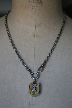 Dainty Necklace with front clasp - shannon porter jewelry   Lost locket by Amy Hanna
