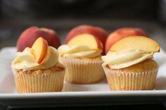 Peach Cupcakes & Peach Cream Cheese Frosting