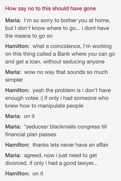 Hamilton | Coulda killed so many birds with one stone, there, Hammie.