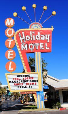 Holiday Motel neon sign, Las Vegas, NV