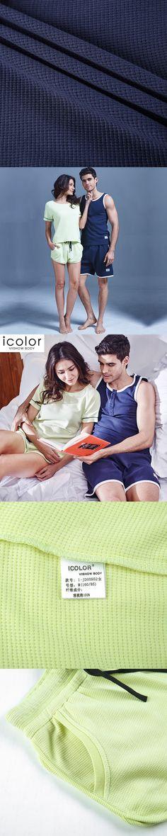 ICOLOR Summer MMen Sets Clothes Sexy Sleepwear Men's Cotton Nightwear Brand New Underwear Undershirts Casual Men Home Sets