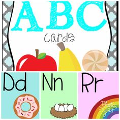 Colorful English alphabet posters
