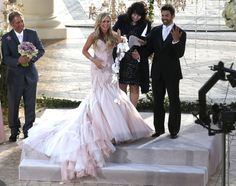 """""""Real Housewives of Orange County"""" star Tamra Barney marries Eddie Judge at an exclusive hotel in Laguna Beach, California on June (omg.I cannot believe she actually married him) Gorgeous Wedding Dress, Beautiful Dresses, Tamra Barney, Vicki Gunvalson, Hollywood Wedding, Here Comes The Bride, Celebrity Weddings, Wedding Gowns, Bridesmaids"""