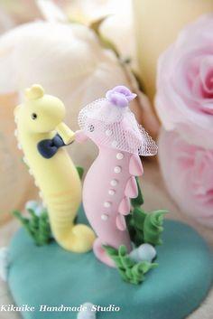 sea horse wedding | Seahorse Wedding Cake Topper
