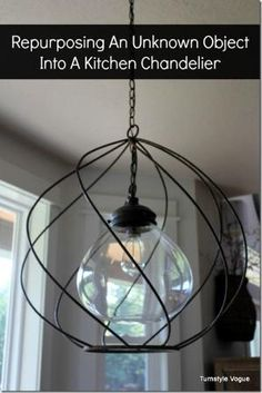 DIY Chandelier made by old object, possibly an industrial egg beater.  Repurposed Decor.  www.turnstylevogue.com #turnstylevogue by Khandiie