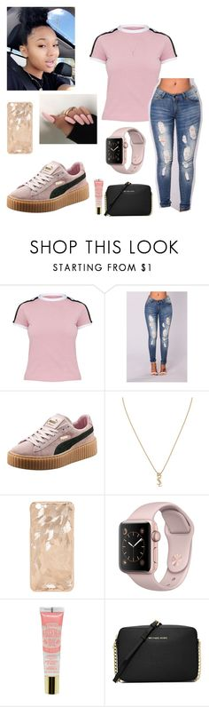 """""""Fire and Desire"""" by wavvyyyzarie ❤ liked on Polyvore featuring Puma, Yves Saint Laurent and MICHAEL Michael Kors"""