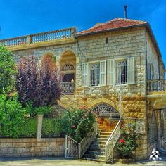 A beautiful old house in Douma By Lana Aoude  #Lebanon #WeAreLebanon