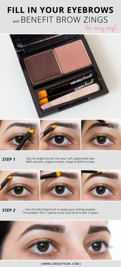 How To Fill In Eyebrows With Benefit Brow Zings - Le Beauty Girl