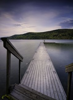 dock at the Otesaga Hotel (Cooperstown, NY)