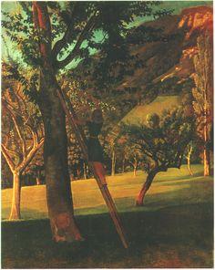 balthus - the cherry tree, 1940, oil on wood.