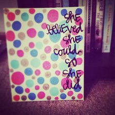 quote canvas by gloriouslyruined on Etsy, $15.00