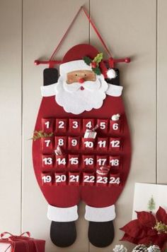 Make the countdown to Christmas even merrier Our Santa Advent Calendar has numbered pockets that you can fill with small treats for your little ones to enjoy as they check off the days.This holiday season decorate your home with Christmas wall art. Advent Calendar Diy, Advent Calendars For Kids, Christmas Calendar, Advent Calenders, Christmas Wall Art, Christmas Paintings, Christmas Countdown, Christmas Makes, Felt Christmas