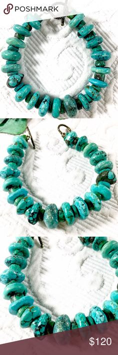 """Genuine Turquoise Bracelet Purchased in a Bolder, Co. Boutique and in excellent condition with Silver Toggle closure. Length is 8"""". Gorgeous turquoise! Vintage Jewelry Bracelets"""