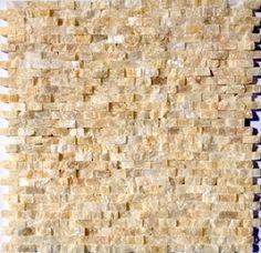 Mini Split Face Stone Tile Honey Onyx