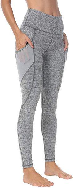 f2fff354bf80c1 Amazon.com: Queenie Ke Women Yoga Leggings Power Flex Mesh High Waist 3  Phone