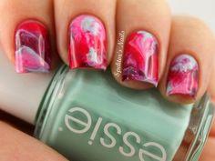 Essie Girls: Watercolor Nails with Mint Candy Apple, Lovie Dovie, Watermelon  Bahama Mama