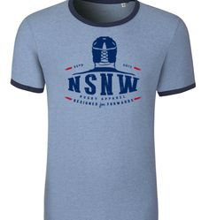 Blue tee nsnw #NSNW labelNSNW blue Rugby #T_Shirt for Forwards: As it says on the front: a rugby t shirt designed for forwards | noscrumnowin.com
