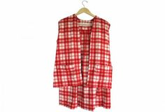 It's A Matching Candy Cane Wool Plaid Skirt and Vest