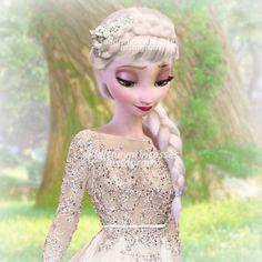 A different version of Elsa |  Modern Elsa and Anna in summer | @alldisneyprincesses on Instagram