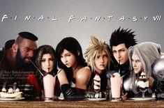 Final Fantasy Girls, Final Fantasy Cloud, Final Fantasy Artwork, Final Fantasy Characters, Final Fantasy Vii Remake, Cloud And Tifa, Cloud Strife, Final Fantasy Collection, Mileena