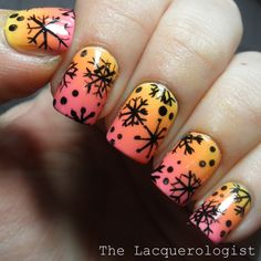 The Lacquerologist: Oh, The Irony!! Tropical Summer Gradients + Snowflakes!