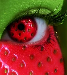 Summer Series - Strawberry Eye by MEGAN-Yrrbby.deviantart.com
