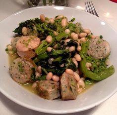 chicken sausage, broccoli rabe & white beans (gluten free)  @scratchthegluten