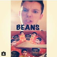 i laughed way harder than i should! #beans OH MY GOD I THOUGHT I WAS THE ONLY ONE THAT THOUGHT THIS WHEN THEY SAW THIS INSTA VID... TURNS OUT IM NOT!!!!