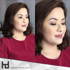 Flawlessly curled hair and and dewy finished makeup look on Miss Sharleen Go  #HaleDemetrio #HD #hdmakeup #hairandmakeup #artist #CDO #bobbybrown #urbandecay #naked2 #sephora #stilacosmetics #rcmanocolorpowder #neutralmakeup #neutraleyeshadow #chinita #filipina #beauty