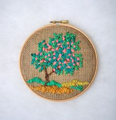Four seasons Embroidery Hoop wall art Hoop Art Decorative Arts