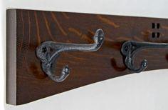 Arts & Crafts 4 Cast Iron Hook Coat Rack by vollmanwoodworking