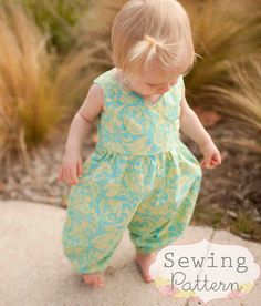 Katelyn Romper (Sizes 6/12 mos to Size 6) PDF Pattern and Tutorial. $7.00, via Etsy. Sew Sweet patterns