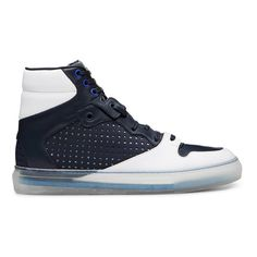 Balenciaga Navy High Top Sneakers - Sneakerboy