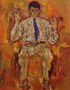 Egon Schiele ~ Portrait of Albert Paris von Gutersloh, 1918