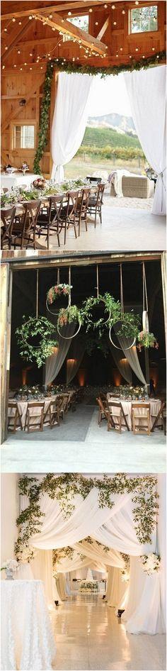 reception entrance decoration ideas for barn weddings_