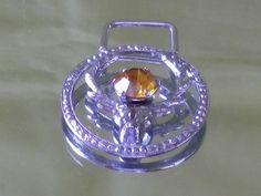 Scottish Silver Citrine Rhinestone Stag by EternalElementsEtsy