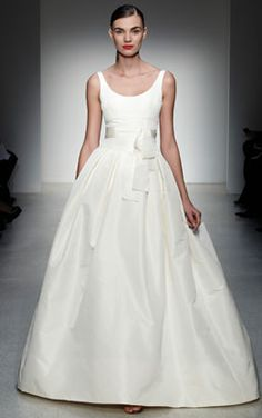 Amsale - chelsea. simple wedding gown