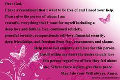 Resentment prayer via addicted to life