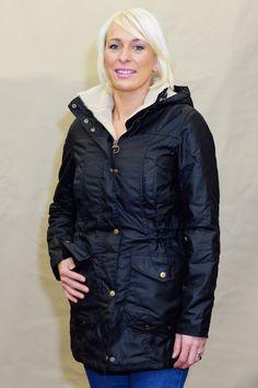 db1f4b2c860ff Barbour Bleaklow Ladies wax Jacket in Black LWX0653BK71
