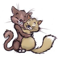 Kitty Hug by ShoJoJim.deviantart.com on @deviantART