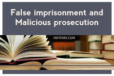The difference between false imprisonment and malicious prosecution may be shown in the tabular form as follows: False imprisonment. Malicious prosecution. Mixed People, War On Drugs, Civil Rights Movement, Criminal Justice, Law School, Eagles, Truths, Crime, Random