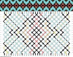 Muster # 91963, Streicher: 30 Zeilen: 18 Farben: 5