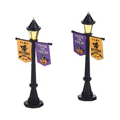 The Jolly Christmas Shop - Department 56 Halloween Village Festival Street Lamps Accessories 4038905, $27.50 (http://www.thejollychristmasshop.com/department-56-halloween-village-festival-street-lamps-accessories-4038905/)